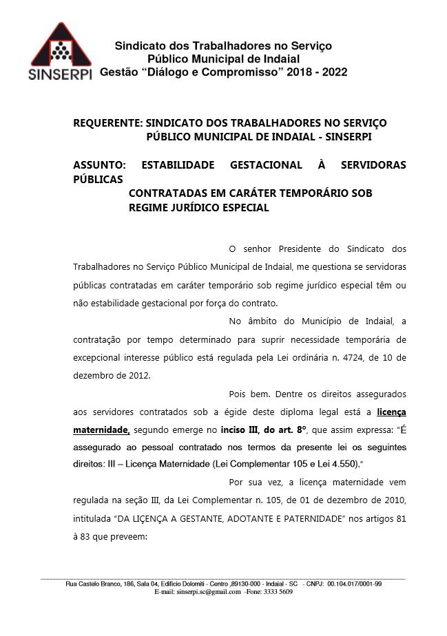 Licença maternidade Trabalhadores Temporários