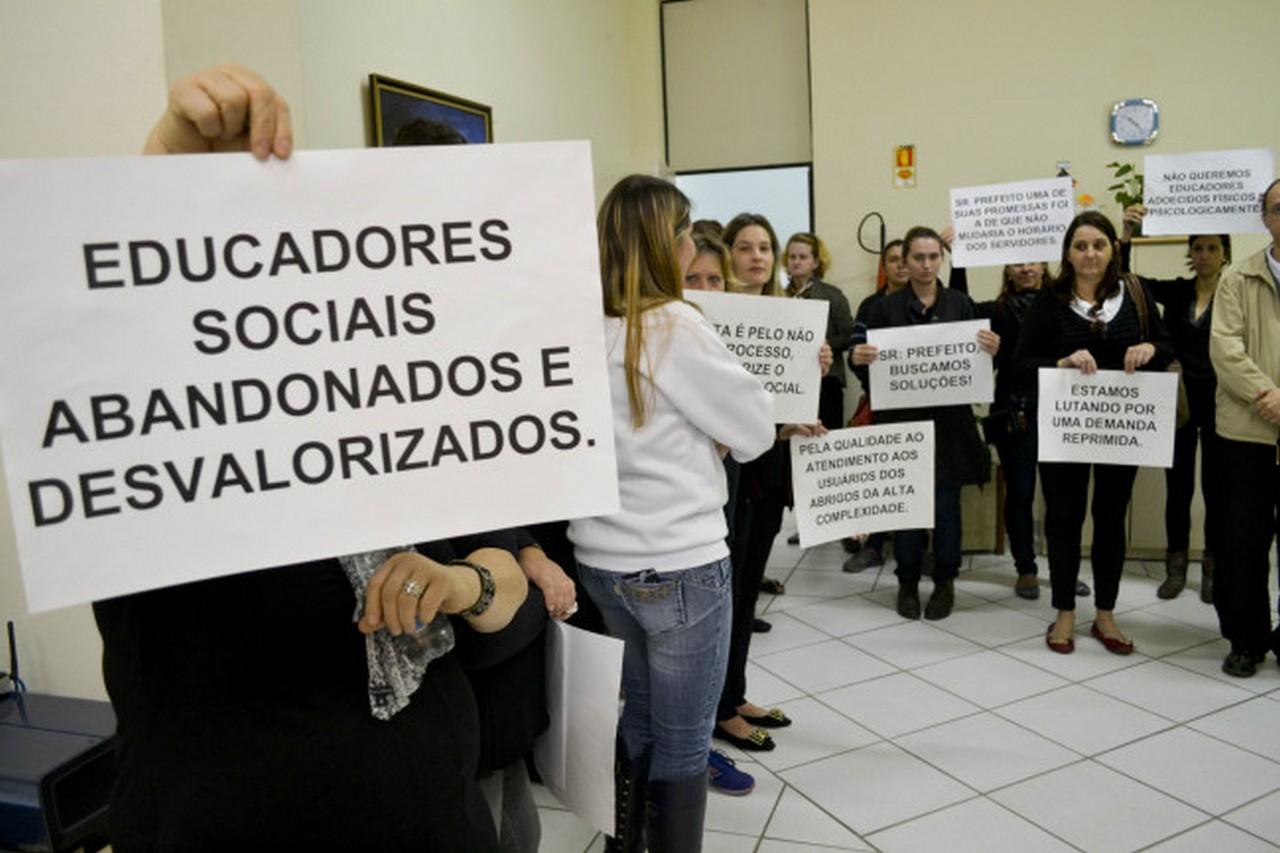 Servidores da Assistência Social podem deflagrar greve I Foto: João Diego Leite