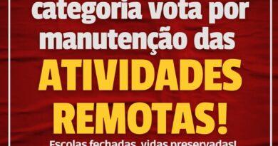 ASSEMBLEIA GERAL VOTA POR MANUTENÇÃO DAS ATIVIDADES REMOTAS