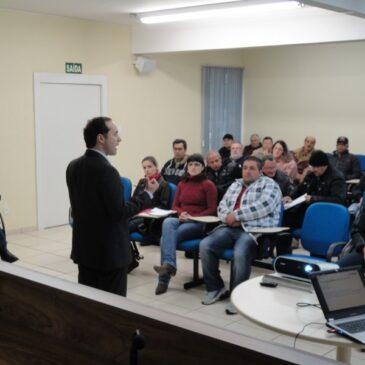Palestra sobre Aposentadoria no STI com o Advogado Anderson Tomasi Ribeiro em 07/07/2012