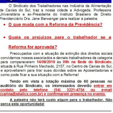PALESTRA DIREITO PREVIDÊNCIÁRIO 14/09. PARTICIPE