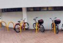 Bicicletário reivindicado pelo Sinttromar é instalado no terminal