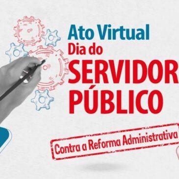 Ato Político-Cultural, nesta quarta (28), marca luta em defesa dos serviços públicos