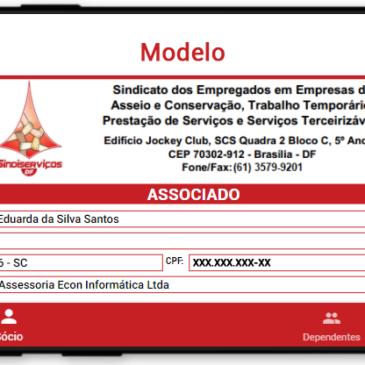 Trabalhadores sindicalizados no Sindiserviços-DF têm carteirinha digital no celular