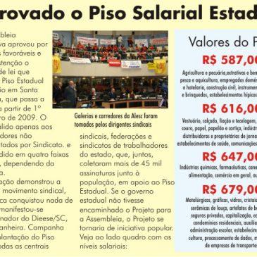 Aprovado o Piso Salarial Estadual