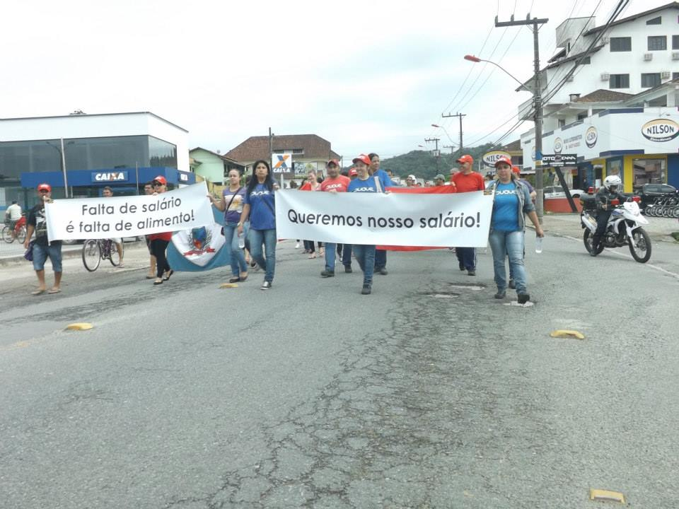 Manifestação Metalúrgica Duque - outubro/2013