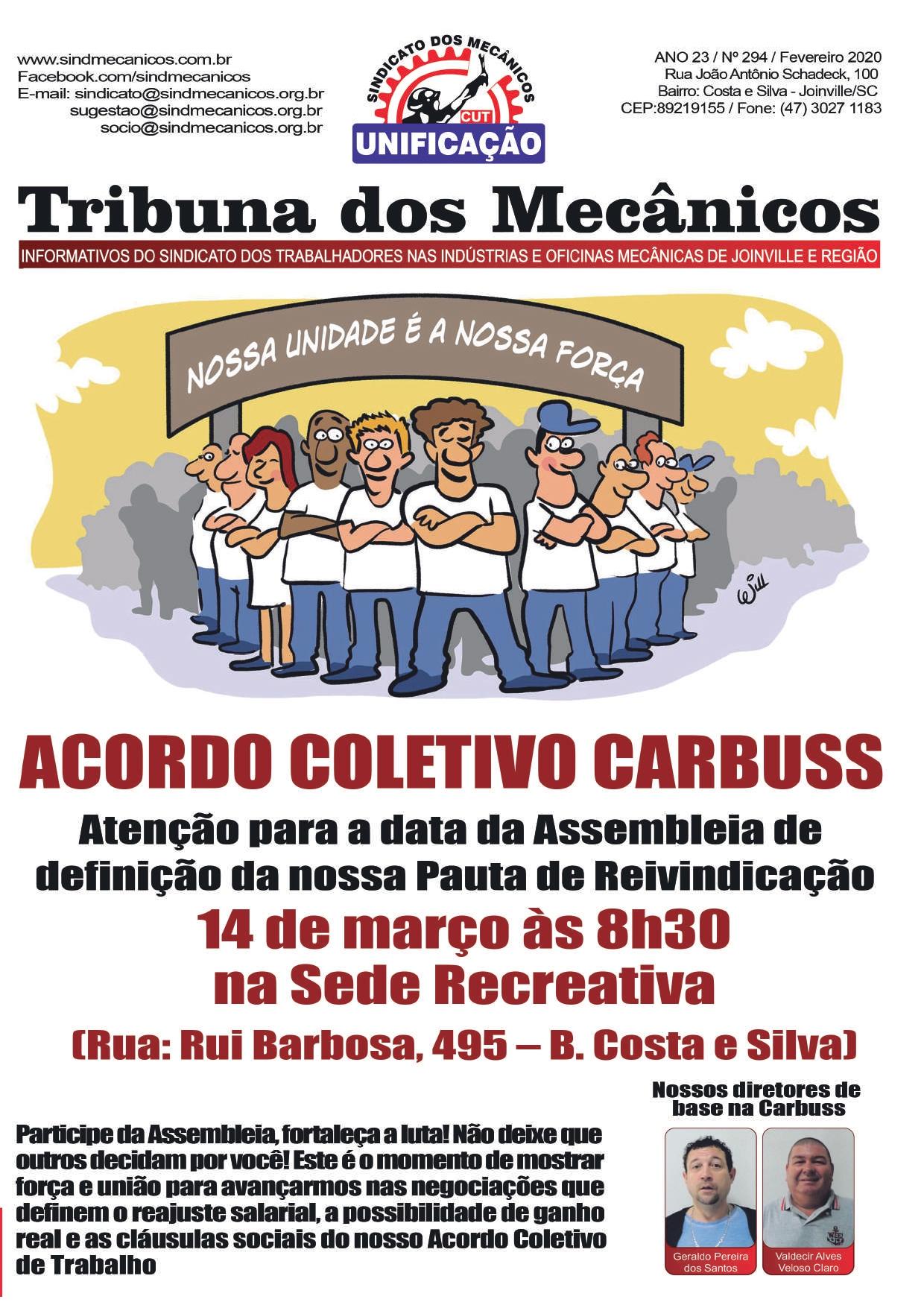 ACORDO COLETIVO CARBUSS