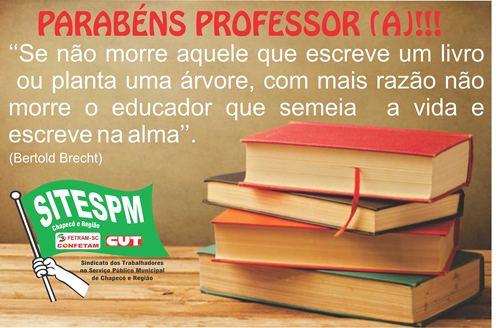 PARABÉNS PROFESSOR/A!!!