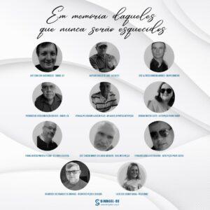 Homenagem aos profissionais da categoria vítimas de Covid-19