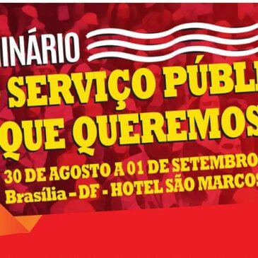 Sindiquinze participa de seminário dos servidores públicos em Brasília