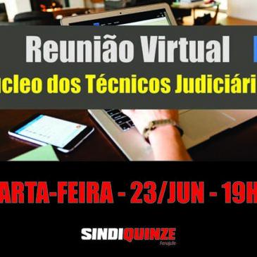 Sindiquinze realiza reunião virtual do Núcleo dos Técnicos na próxima quarta-feira, dia 23