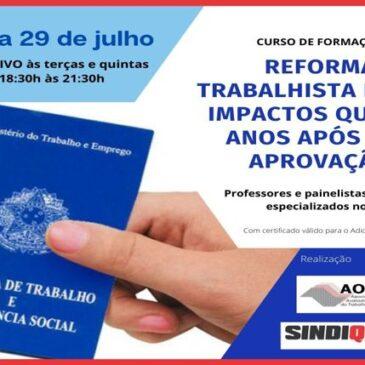 Reforma Trabalhista e seus impactos quatro anos após sua aprovação: Confira a programação completa e faça a sua inscrição!