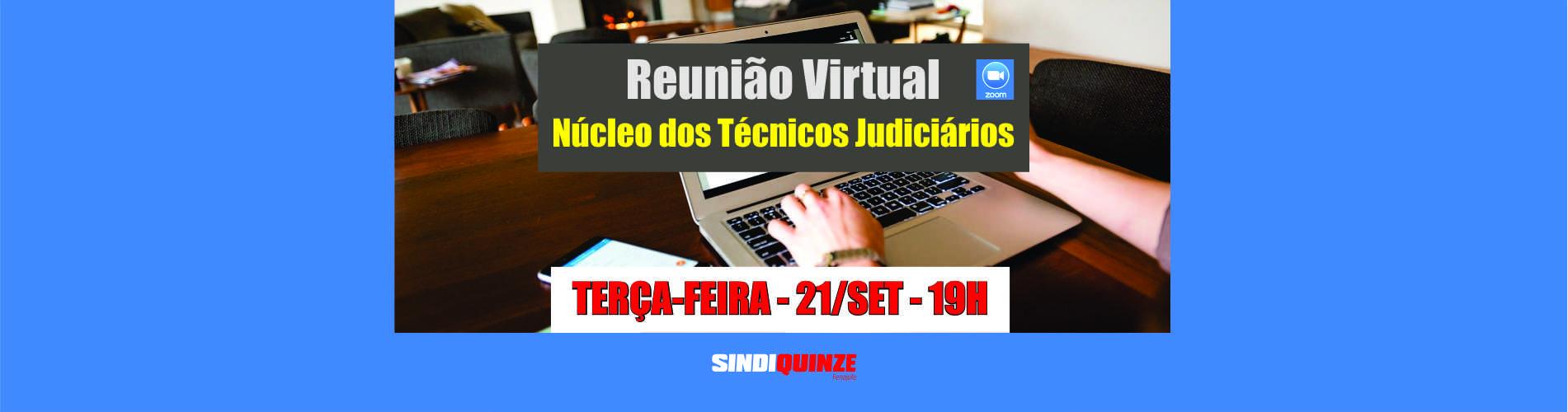 Sindiquinze realiza reunião virtual do Núcleo dos Técnicos no dia 21 de setembro