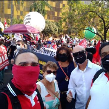 Caravana Sindiquinze está em Brasília na luta contra a Reforma Administrativa