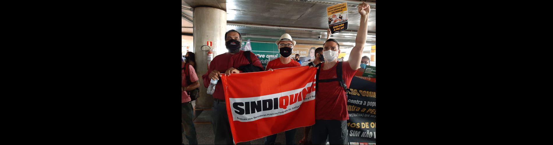 Sindiquinze integra mobilizações desta semana em Brasília contra a Reforma Administrativa