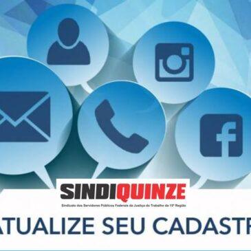 Sindiquinze promove campanha de atualização cadastral dos associados
