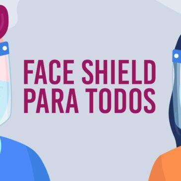 Face shield para os comerciários