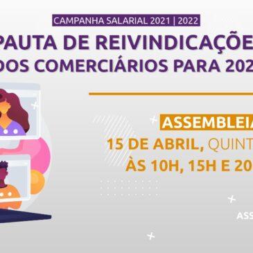 Campanha Salarial: Assembleia de aprovação da pauta nesta quinta, dia 15