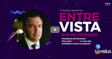 TV Sindjus: Presidente do Fonacate concede entrevista para falar sobre PEC 32 e mobilizações conjuntas entre as entidades